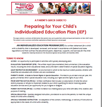 Image of the Parent Quick Guide Document for IEPs