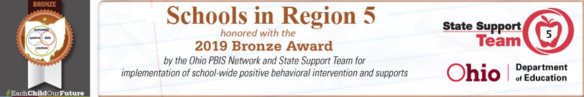 Banner for Bronze Award Winners 2019